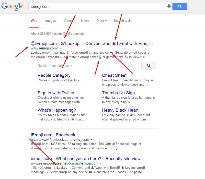 ikonice u google rezultatima