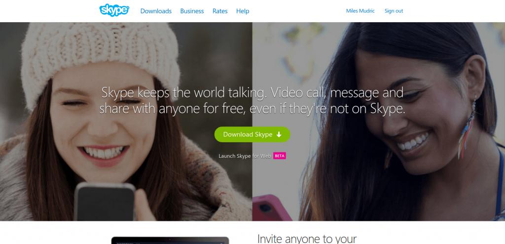 Skype cta