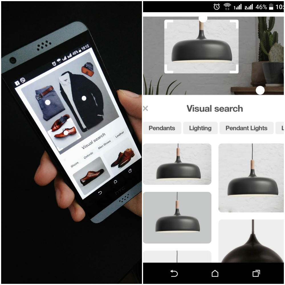 Pinterest visual search mobile